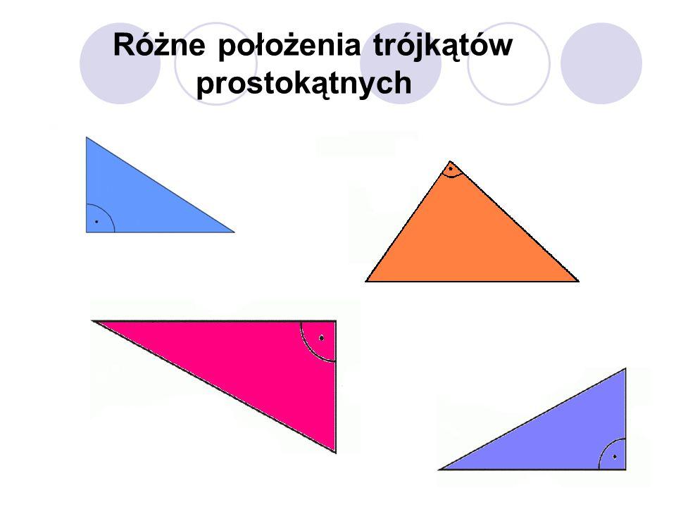 Różne położenia trójkątów prostokątnych