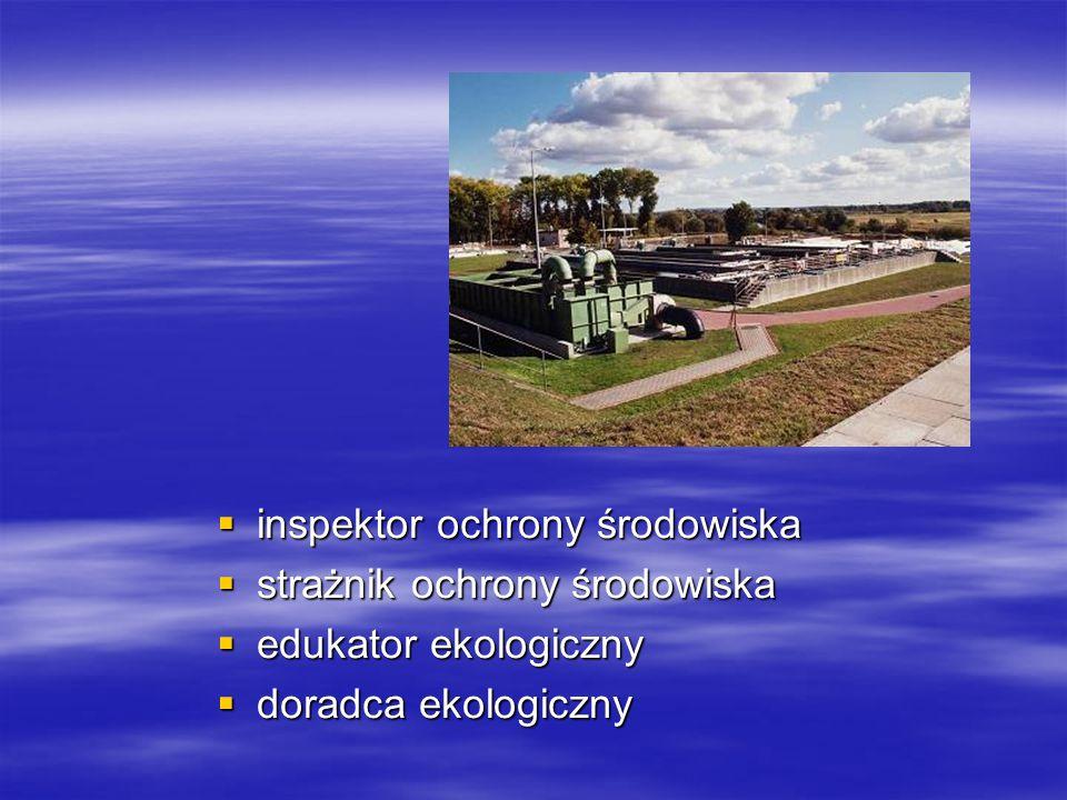  inspektor ochrony środowiska  strażnik ochrony środowiska  edukator ekologiczny  doradca ekologiczny
