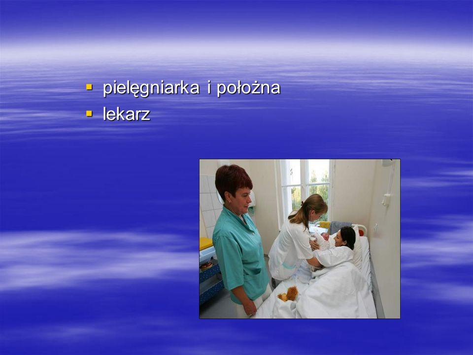  pielęgniarka i położna  lekarz