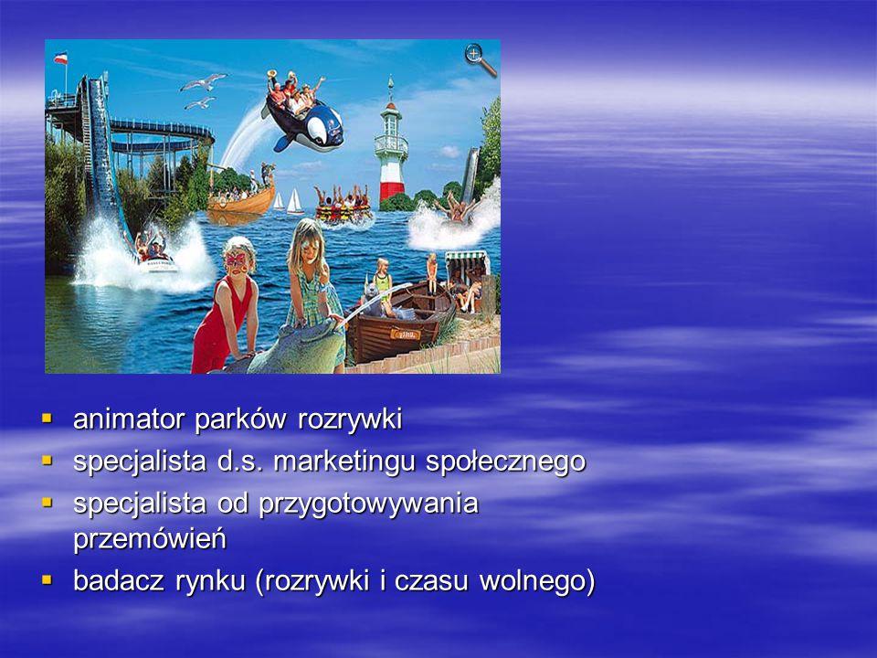  animator parków rozrywki  specjalista d.s.