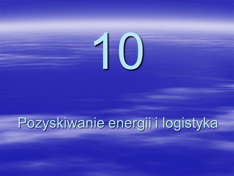 10 Pozyskiwanie energii i logistyka