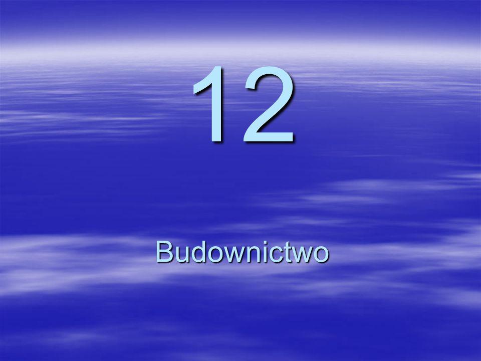 12 Budownictwo