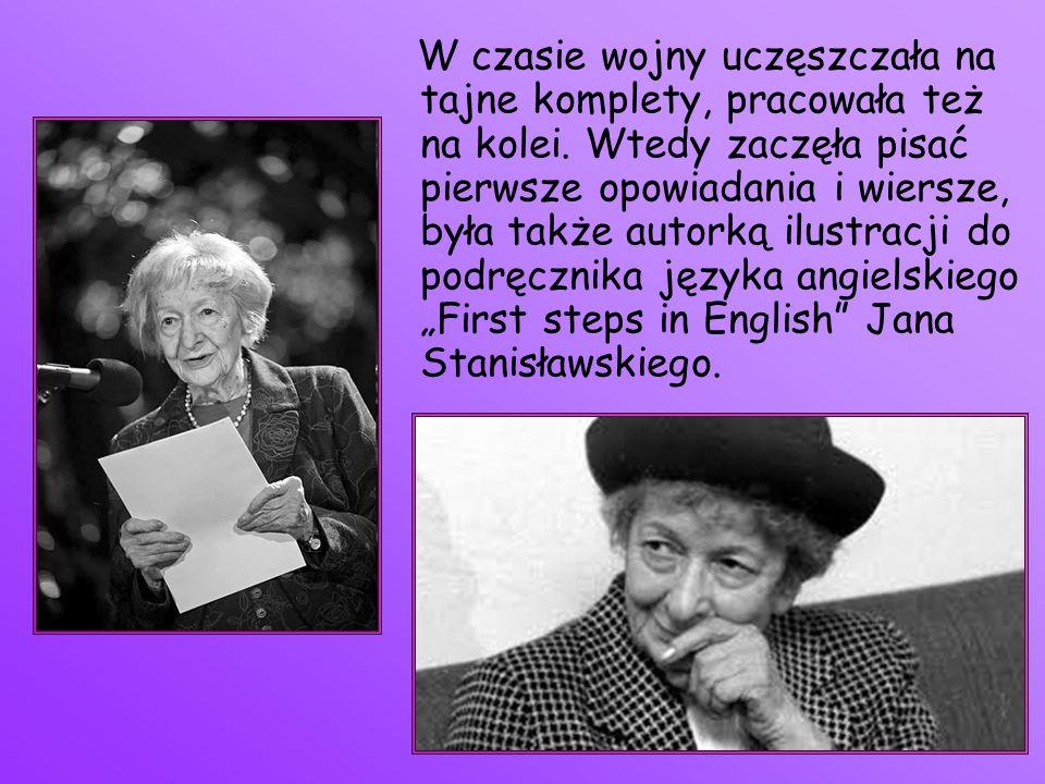Po wojnie studiowała polonistykę, a następnie socjologię na Uniwersytecie Jagiellońskim w Krakowie.