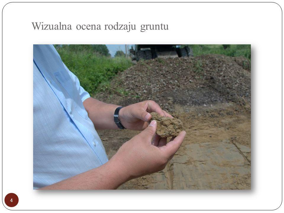 Wizualna ocena rodzaju gruntu 4