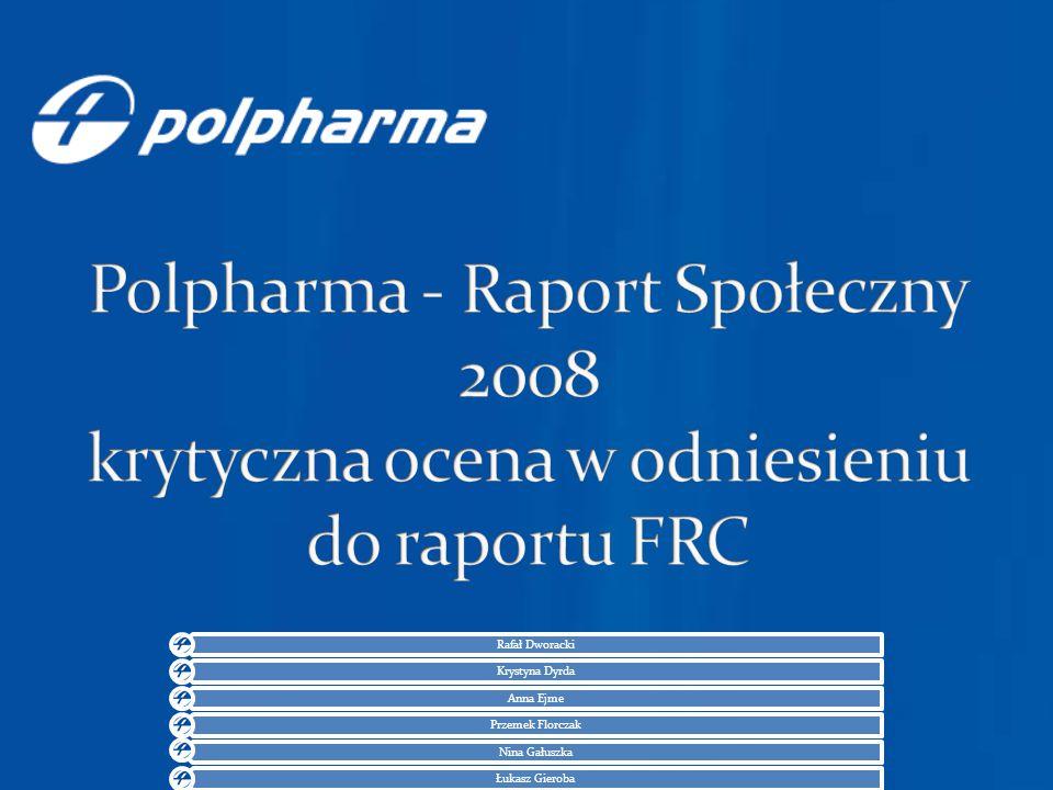 Przychody ze sprzeda ż y – 996.214,00 zł (2009 rok) Liczba zatrudnionych – 1545 osób 196 miejsce w rankingu Politki
