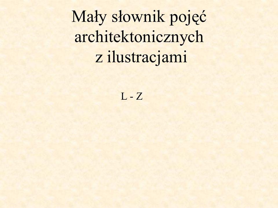 Mały słownik pojęć architektonicznych z ilustracjami L - Z