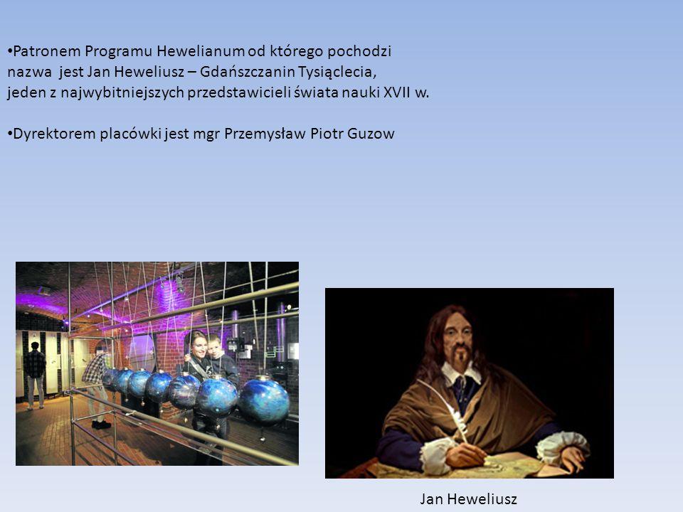Patronem Programu Hewelianum od którego pochodzi nazwa jest Jan Heweliusz – Gdańszczanin Tysiąclecia, jeden z najwybitniejszych przedstawicieli świata nauki XVII w.