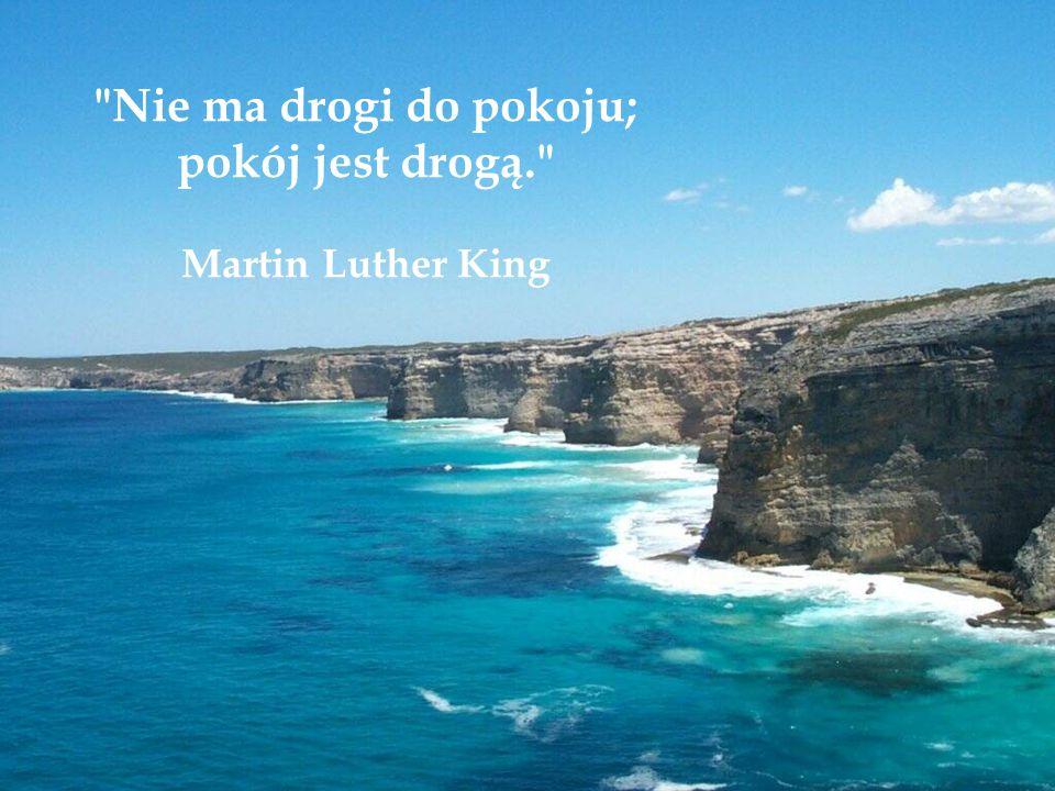 Nie ma drogi do pokoju; pokój jest drogą. Martin Luther King