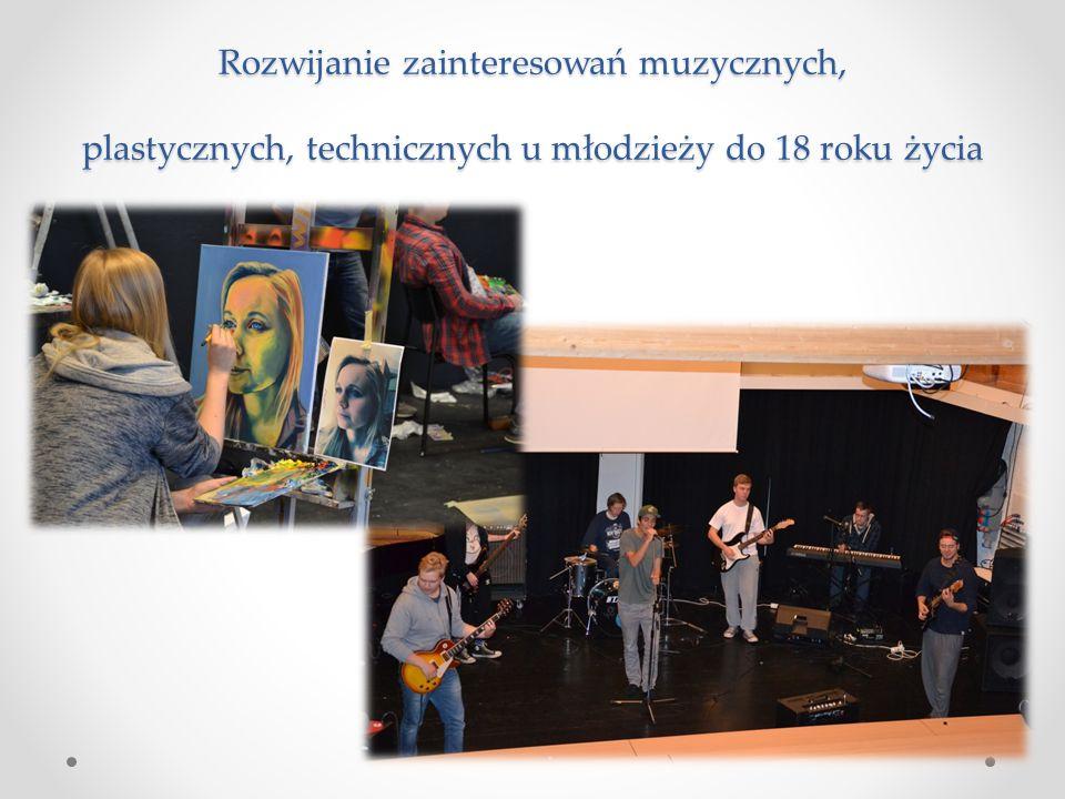 Rozwijanie zainteresowań muzycznych, plastycznych, technicznych u młodzieży do 18 roku życia