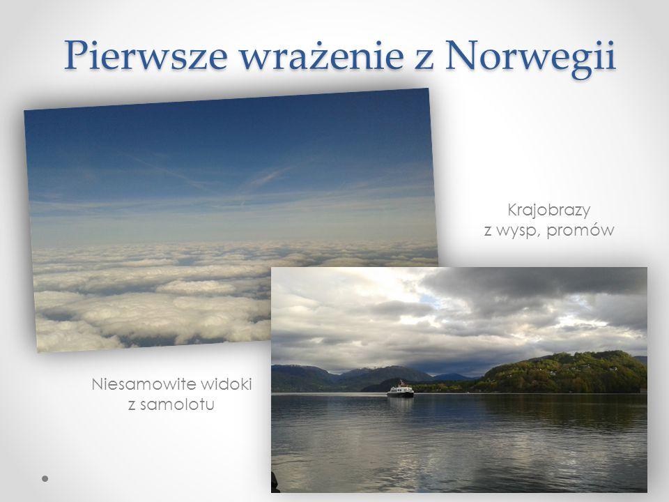 Pierwsze wrażenie z Norwegii Niesamowite widoki z samolotu Krajobrazy z wysp, promów