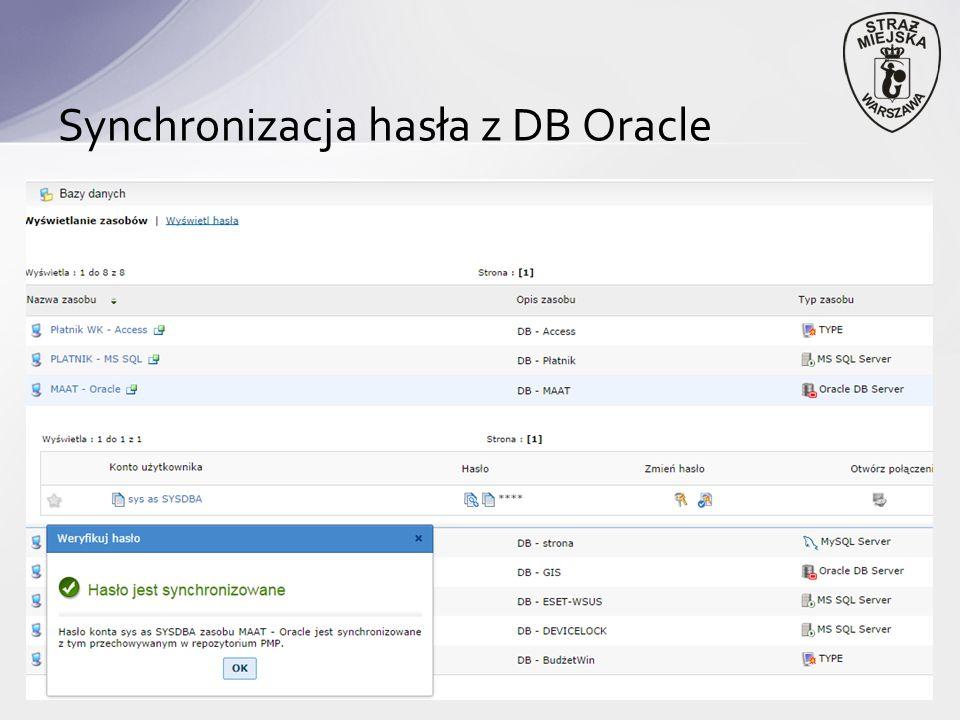 Synchronizacja hasła z DB Oracle
