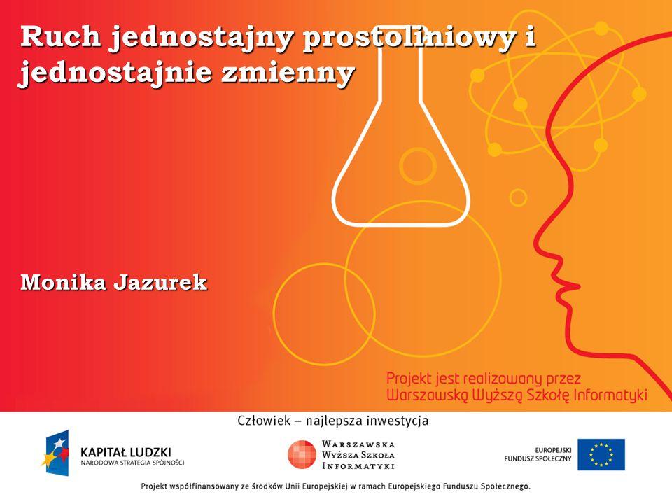 Ruch jednostajny prostoliniowy i jednostajnie zmienny Monika Jazurek
