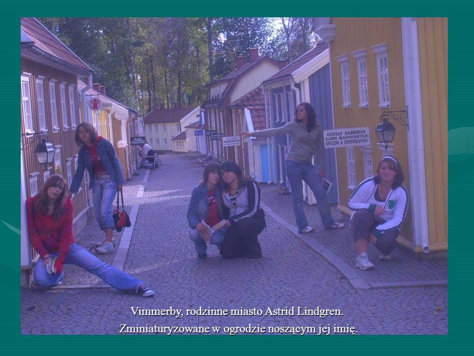 Vimmerby, rodzinne miasto Astrid Lindgren. Zminiaturyzowane w ogrodzie noszącym jej imię. Vimmerby, rodzinne miasto Astrid Lindgren. Zminiaturyzowane