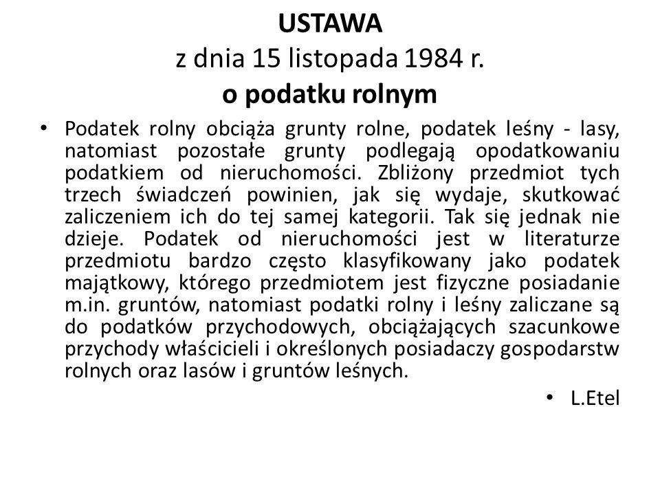 USTAWA z dnia 15 listopada 1984 r.