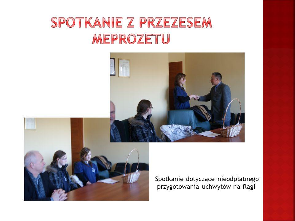 Spotkanie dotyczące nieodpłatnego przygotowania uchwytów na flagi