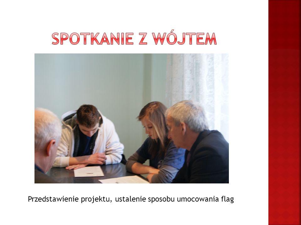 Przedstawienie projektu, ustalenie sposobu umocowania flag