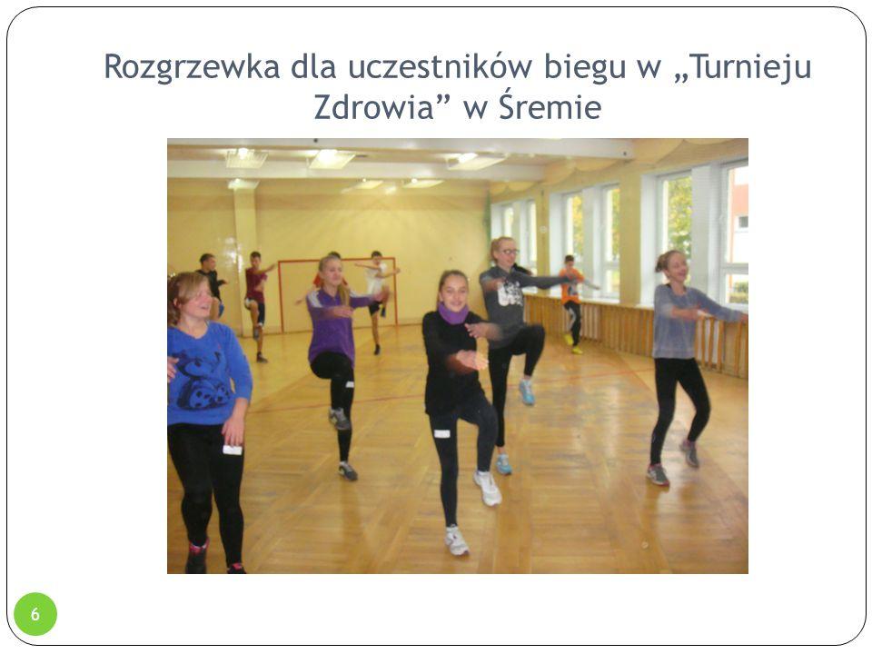 """Rozgrzewka dla uczestników biegu w """"Turnieju Zdrowia"""" w Śremie 6"""