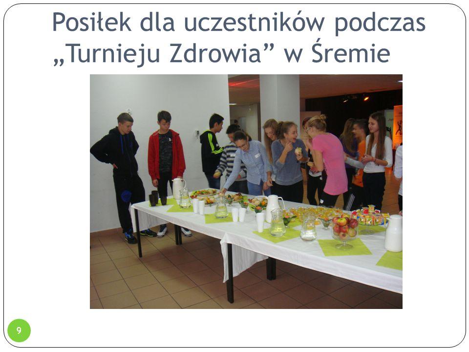 """Posiłek dla uczestników podczas """"Turnieju Zdrowia"""" w Śremie 9"""