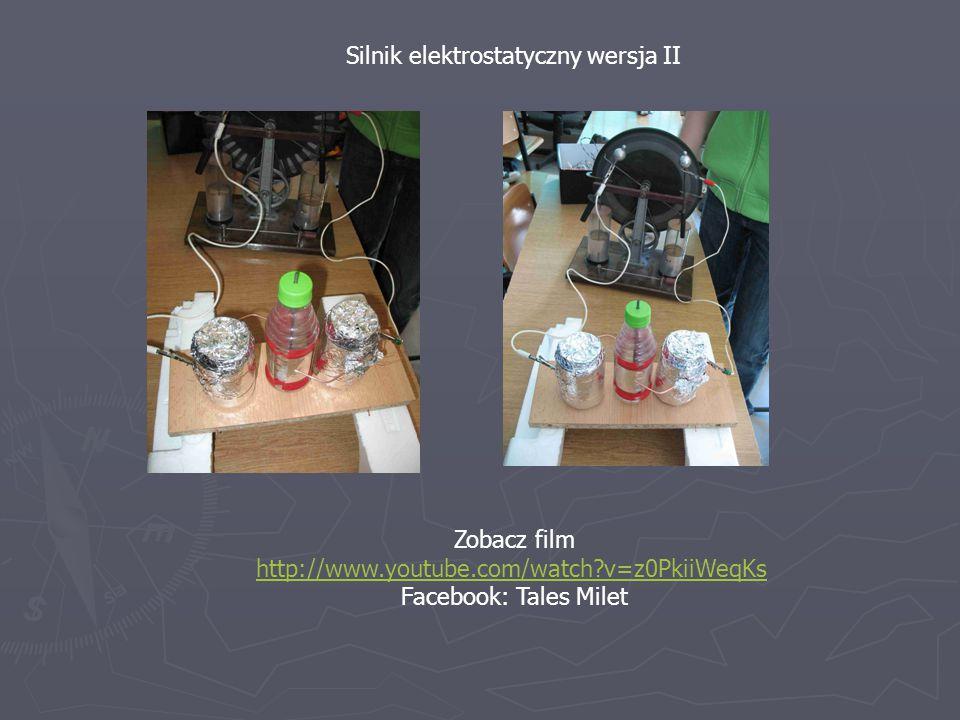 Silnik elektrostatyczny wersja II Zobacz film http://www.youtube.com/watch?v=z0PkiiWeqKs Facebook: Tales Milet