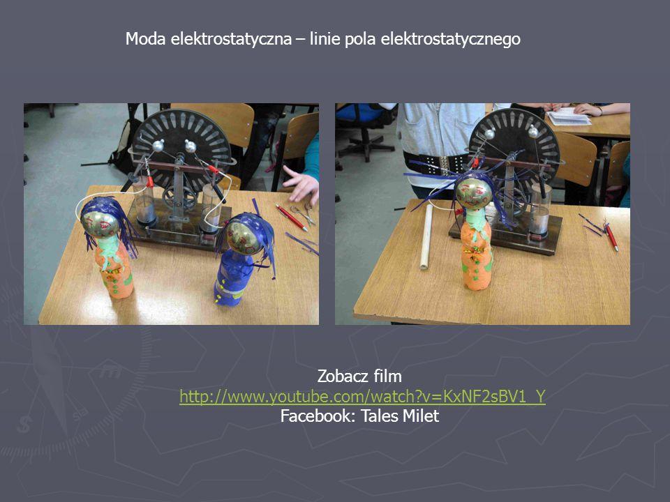 Moda elektrostatyczna – linie pola elektrostatycznego Zobacz film http://www.youtube.com/watch?v=KxNF2sBV1_Y Facebook: Tales Milet