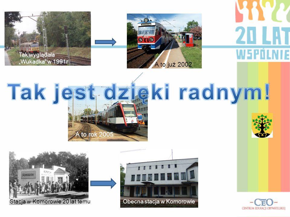 """Tak wyglądała """"Wukadka"""" w 1991r. A to już 2002 A to rok 2005 Obecna stacja w KomorowieStacja w Komorowie 20 lat temu"""