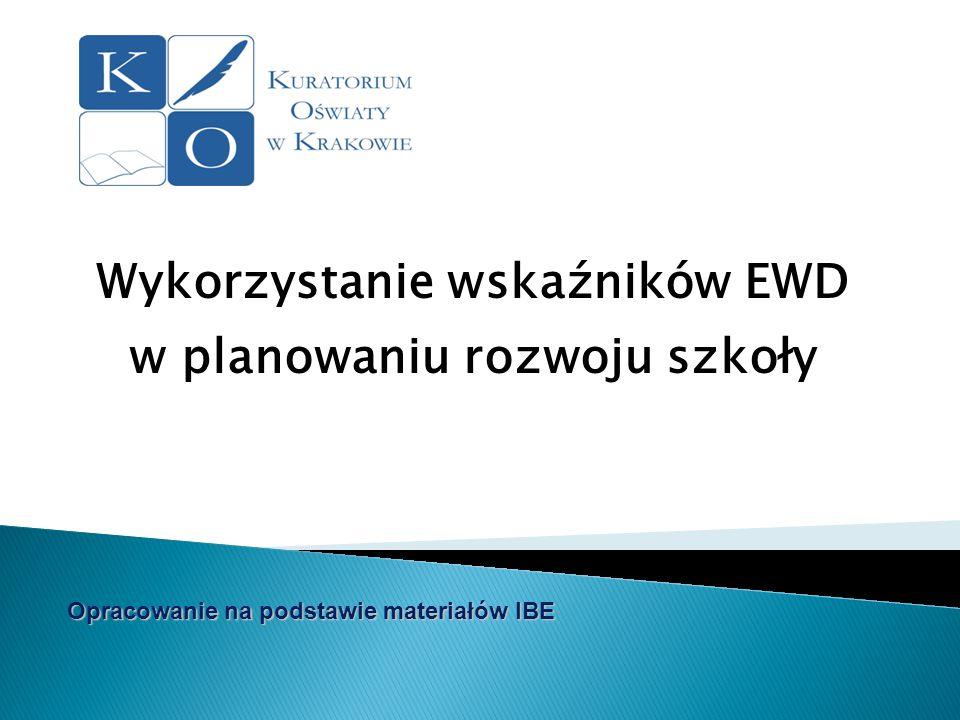 Wykorzystanie wskaźników EWD w planowaniu rozwoju szkoły Opracowanie na podstawie materiałów IBE