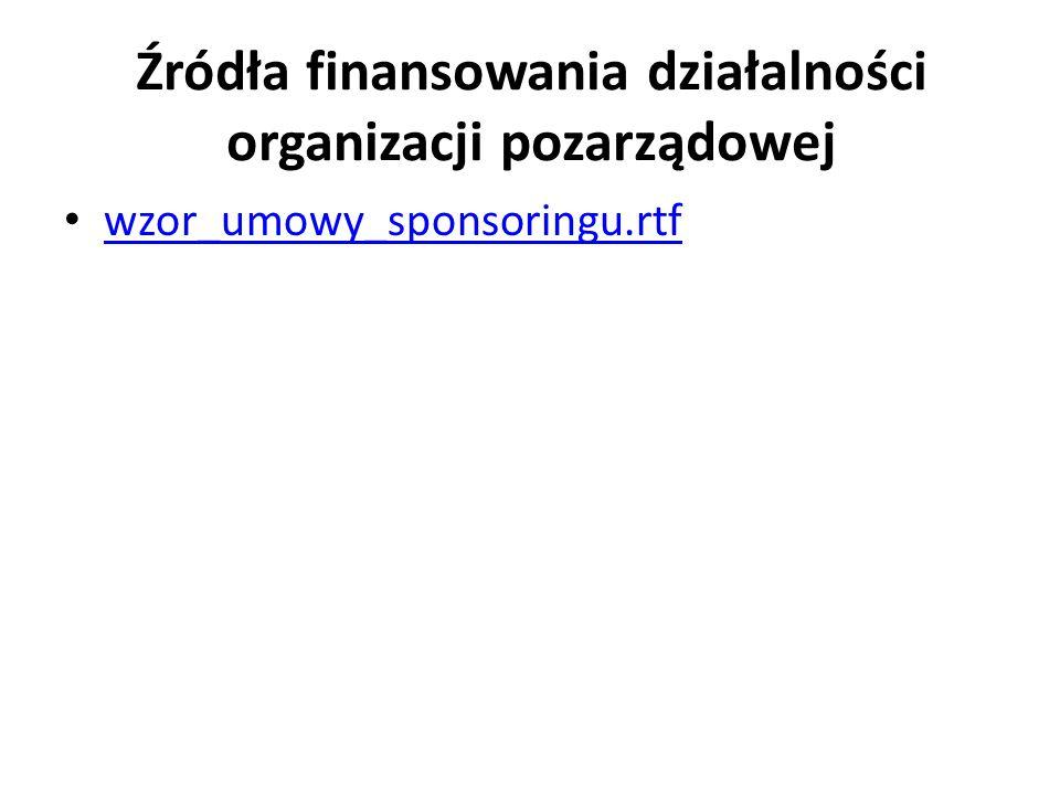 Źródła finansowania działalności organizacji pozarządowej wzor_umowy_sponsoringu.rtf