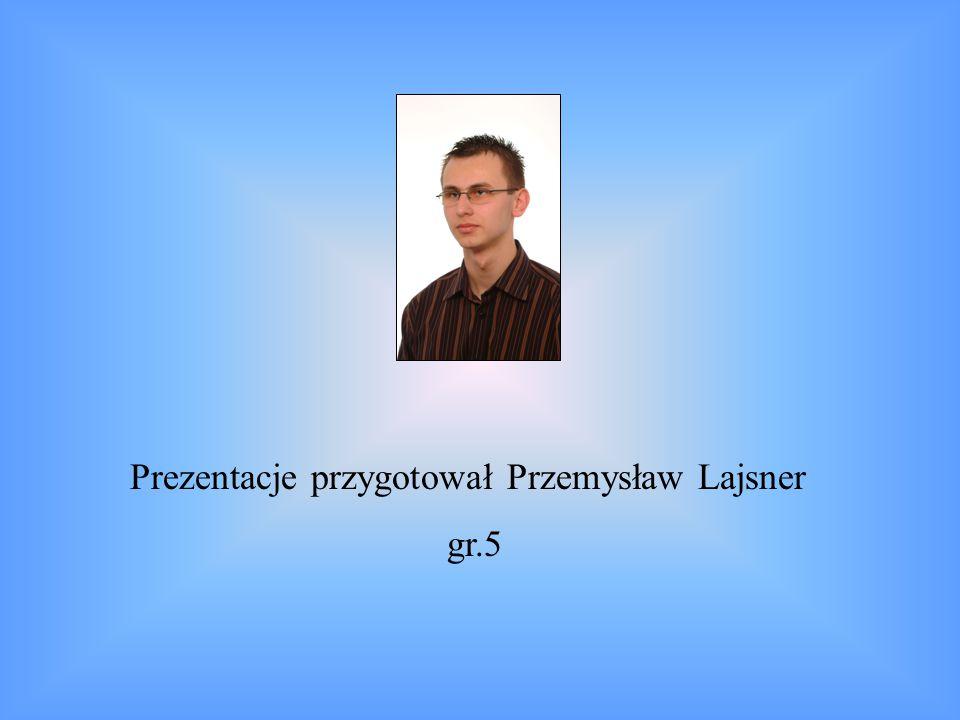 Prezentacje przygotował Przemysław Lajsner gr.5