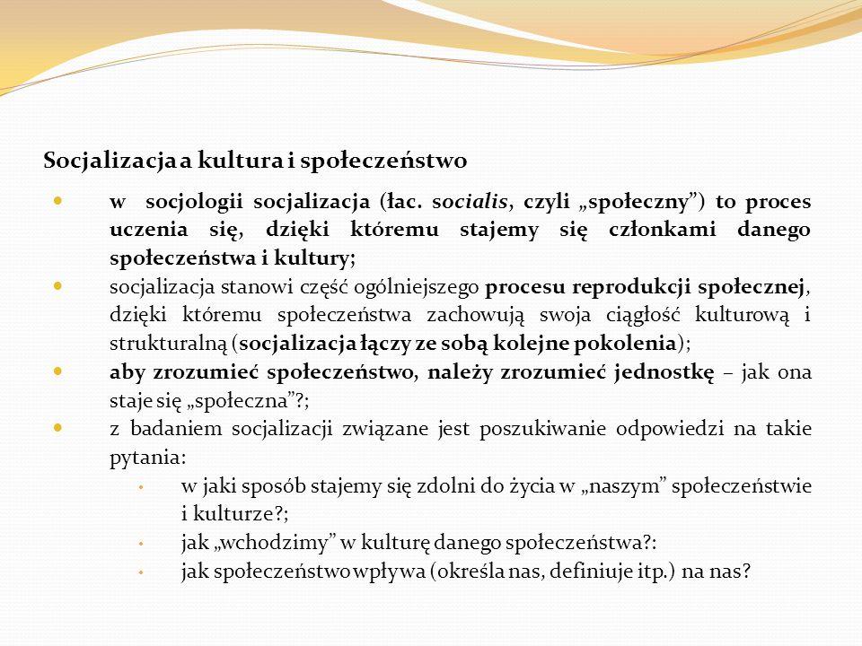 Literatura (zalecana, warta przeczytania?) na temat socjalizacji, kontroli i ról społecznych Barbara Szacka, Wprowadzenie do socjologii (roz.