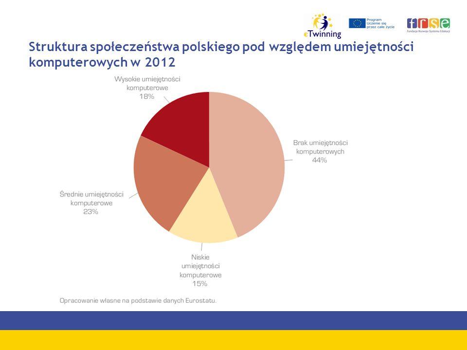 Struktura społeczeństwa polskiego pod względem umiejętności komputerowych w 2012