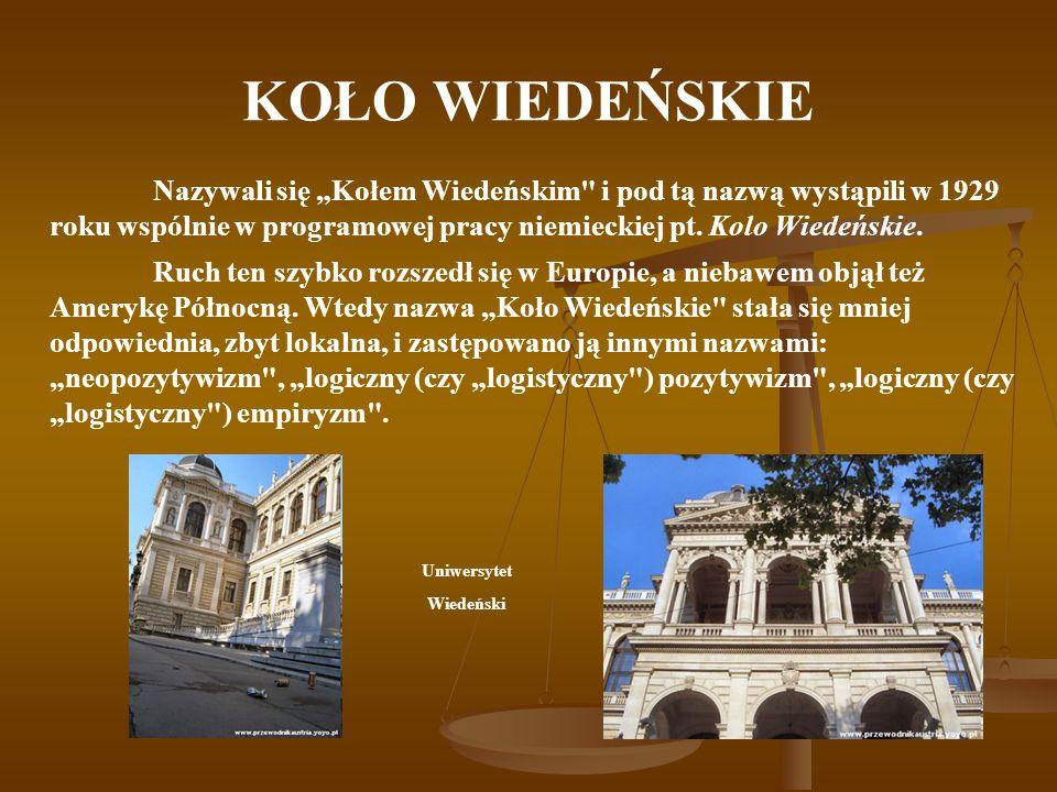 """KOŁO WIEDEŃSKIE Nazywali się """"Kołem Wiedeńskim"""
