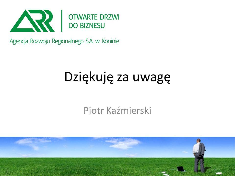 Dziękuję za uwagę Piotr Kaźmierski