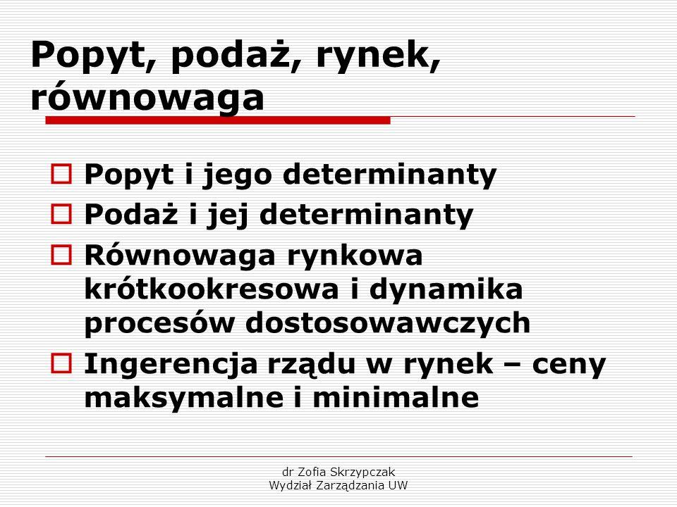 dr Zofia Skrzypczak Wydział Zarządzania UW Literatura  D.