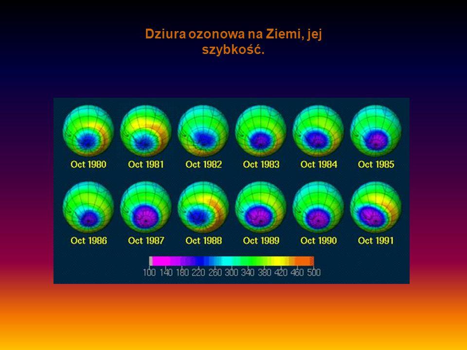 Dziura ozonowa na Ziemi, jej szybkość.
