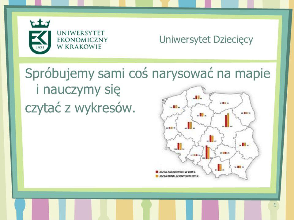9 Spróbujemy sami coś narysować na mapie i nauczymy się czytać z wykresów. Uniwersytet Dziecięcy