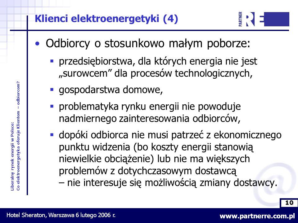 10 Liberalny rynek energii w Polsce: Co elektroenergetyka oferuje Klientom – odbiorcom.