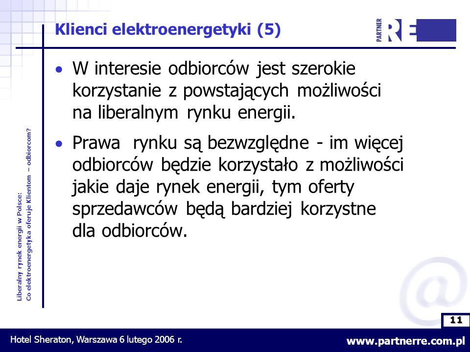 11 Liberalny rynek energii w Polsce: Co elektroenergetyka oferuje Klientom – odbiorcom.