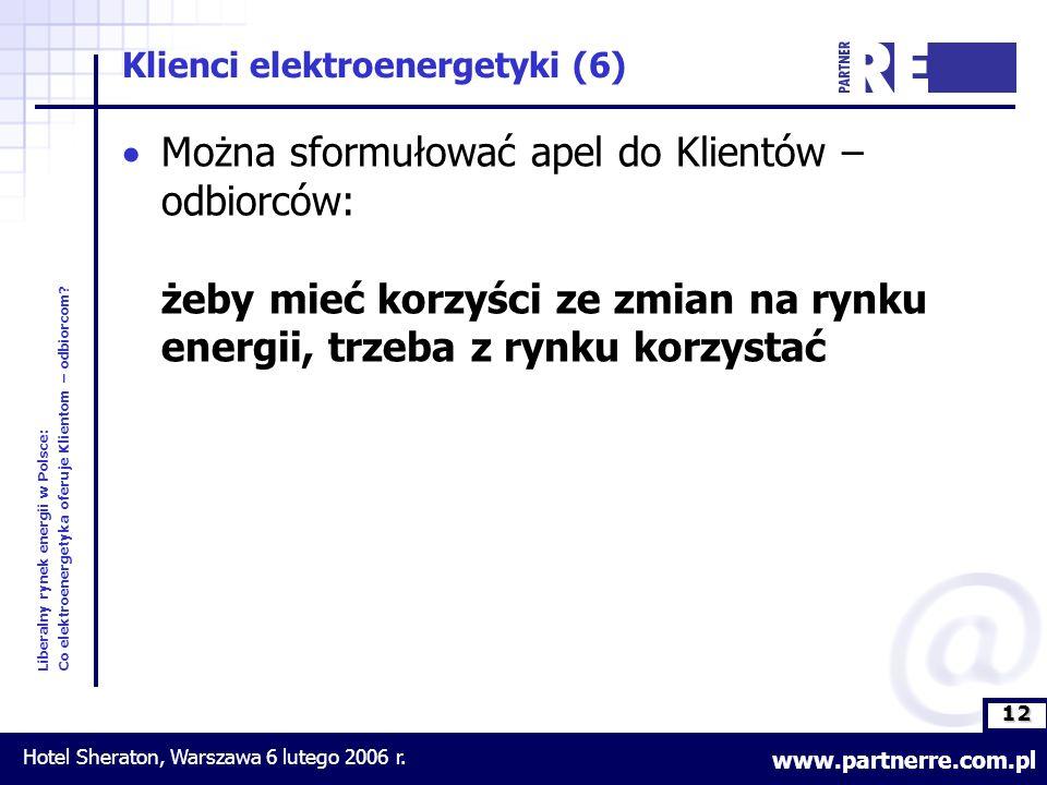 12 Liberalny rynek energii w Polsce: Co elektroenergetyka oferuje Klientom – odbiorcom.