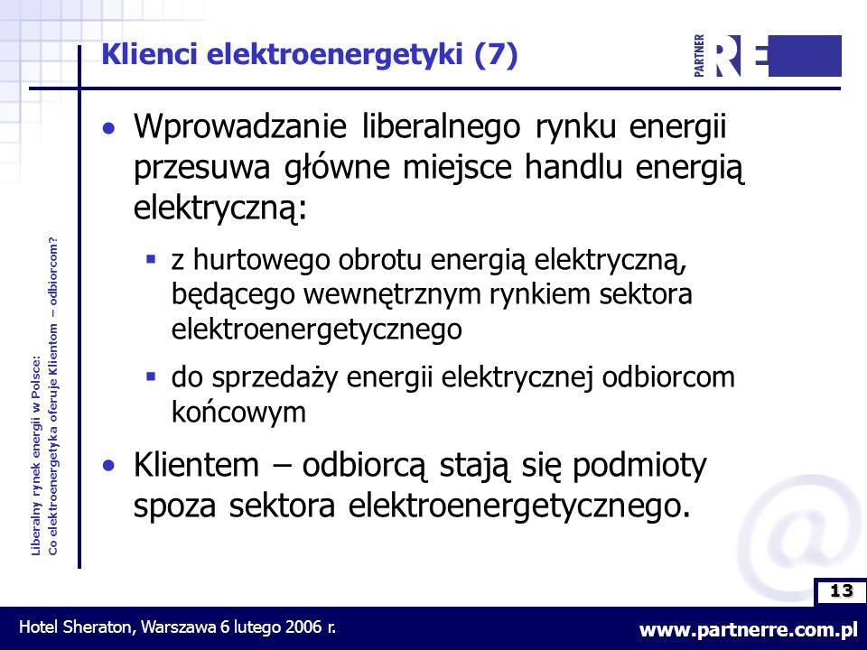 13 Liberalny rynek energii w Polsce: Co elektroenergetyka oferuje Klientom – odbiorcom.