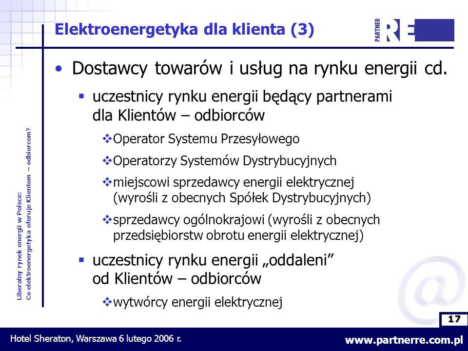 17 Liberalny rynek energii w Polsce: Co elektroenergetyka oferuje Klientom – odbiorcom.