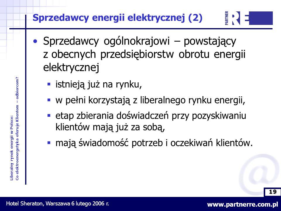 19 Liberalny rynek energii w Polsce: Co elektroenergetyka oferuje Klientom – odbiorcom.