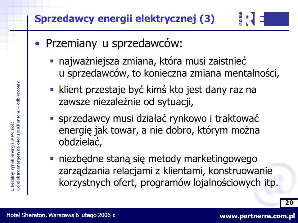 20 Liberalny rynek energii w Polsce: Co elektroenergetyka oferuje Klientom – odbiorcom.