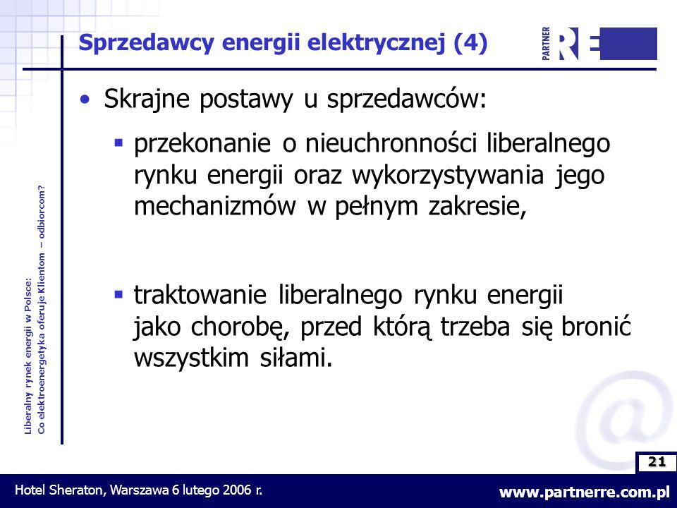 21 Liberalny rynek energii w Polsce: Co elektroenergetyka oferuje Klientom – odbiorcom.