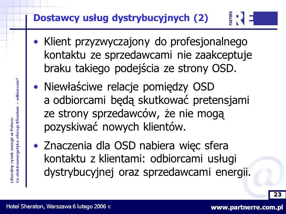 23 Liberalny rynek energii w Polsce: Co elektroenergetyka oferuje Klientom – odbiorcom.