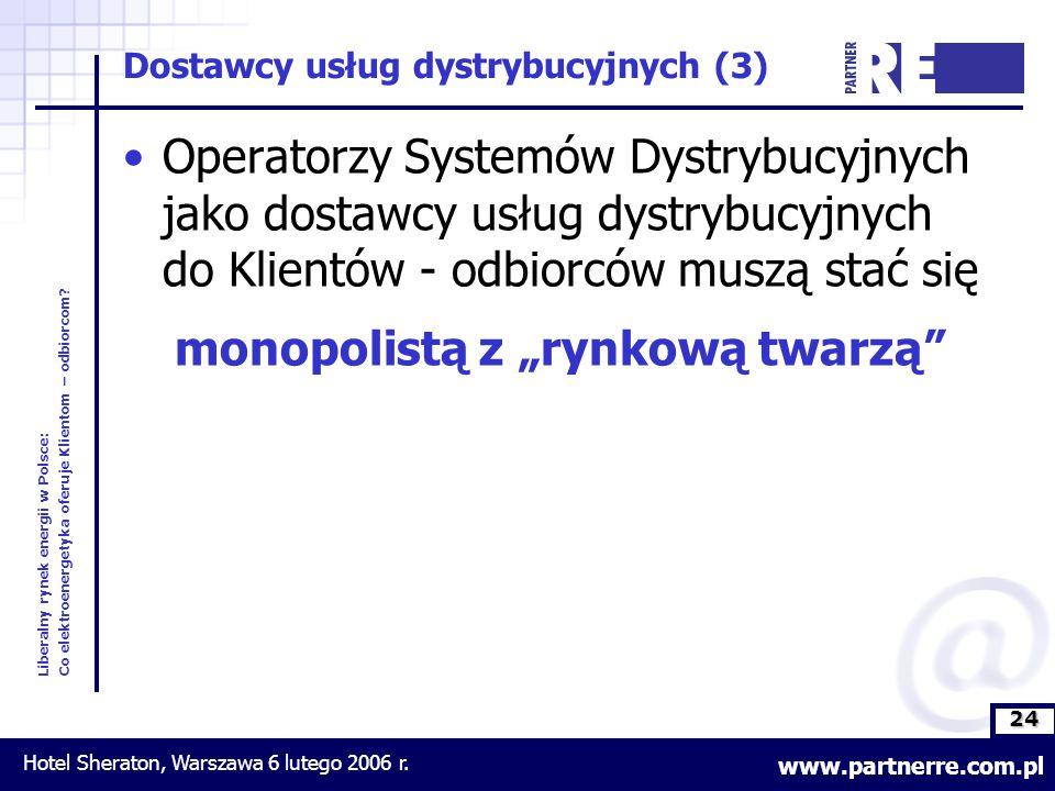 24 Liberalny rynek energii w Polsce: Co elektroenergetyka oferuje Klientom – odbiorcom.