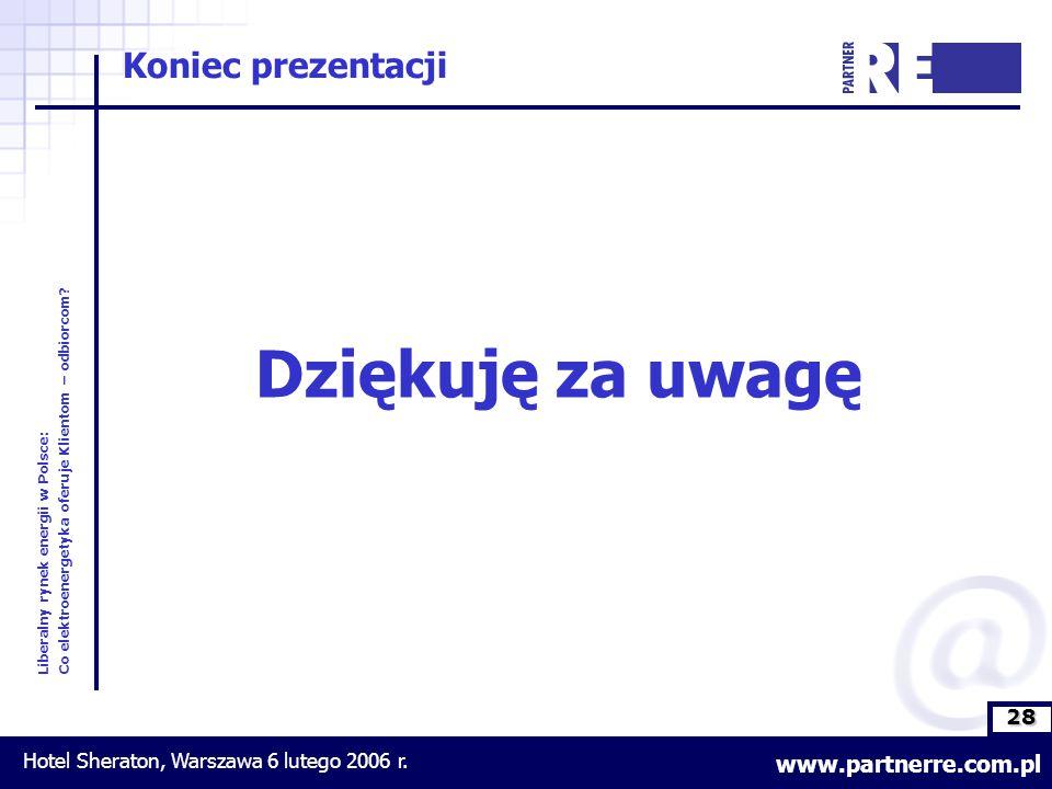 28 Liberalny rynek energii w Polsce: Co elektroenergetyka oferuje Klientom – odbiorcom.