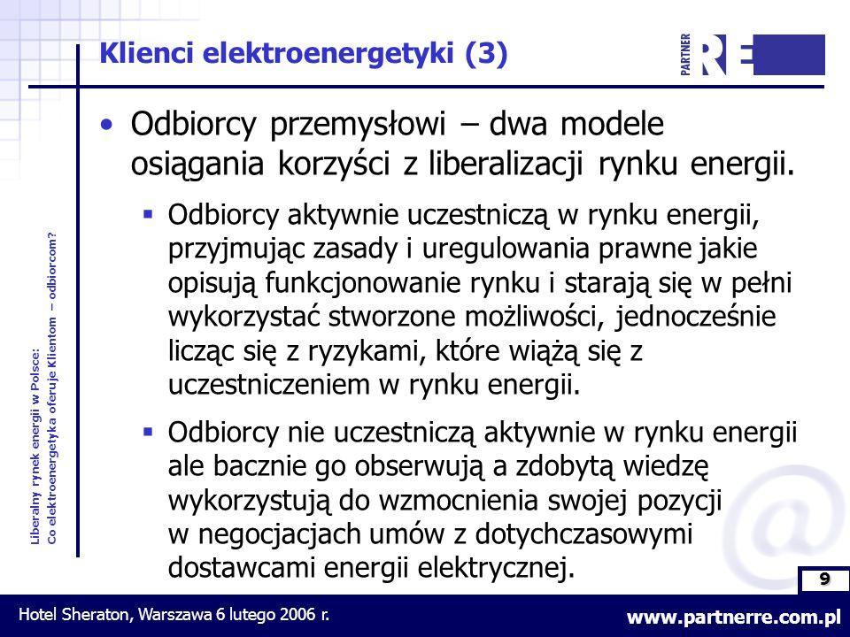 9 Liberalny rynek energii w Polsce: Co elektroenergetyka oferuje Klientom – odbiorcom.
