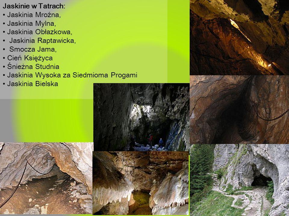 Jaskinie w Tatrach: Jaskinia Mroźna, Jaskinia Mylna, Jaskinia Obłazkowa, Jaskinia Raptawicka, Smocza Jama, Cień Księżyca Śnieżna Studnia Jaskinia Wyso