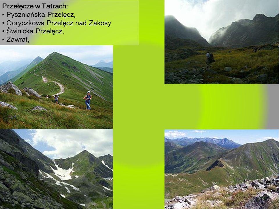 Przełęcze w Tatrach: Pyszniańska Przełęcz, Goryczkowa Przełęcz nad Zakosy Świnicka Przełęcz, Zawrat,