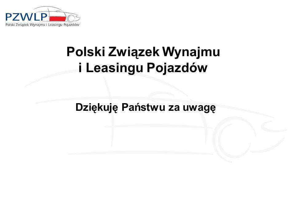 Polski Związek Wynajmu i Leasingu Pojazdów Dziękuję Państwu za uwagę